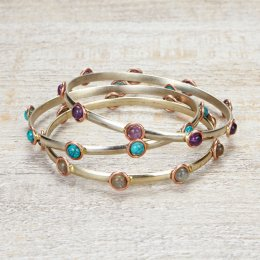 Colourful Gem Bangles - Set of 3
