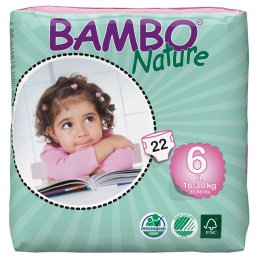 Bambo Nature Disposable Nappies - XL PLus - Size 6 - Pack of 22