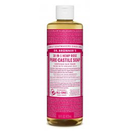 Dr Bronner Organic Liquid Castile Soap - Rose - 473ml