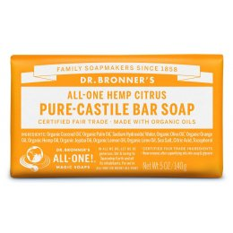 Dr Bronner Organic Citrus Soap Bar - 140g