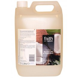 Faith in Nature Shower Gel & Foam Bath - Coconut - 5 Litre