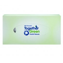 Traidcraft Together Green Facial Tissues - 110 Sheets