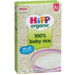 HiPP Organic Baby Rice - 4m  - Dried - 160g