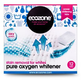 Ecozone Pure Oxygen Whitener Tablets - For Whites - Pack of 12