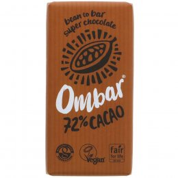 Ombar 72 percent  Raw Cacao Chocolate - 35g