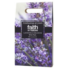 Faith in Nature Lavender & Geranium Minis Gift Pack