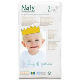 Naty Eco Disposable Nappies - Mini - Size 2 - Pack of 34