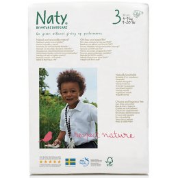 Naty Eco Disposable Nappies - Midi - Size 3 - Pack of 31