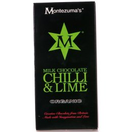 Montezumas Organic Chilli & Lime Milk Chocolate - 100g