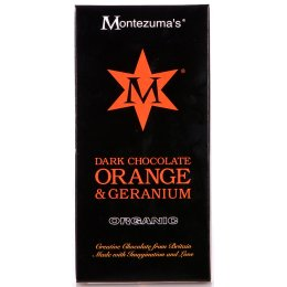 Montezumas Organic Orange & Geranium Dark Chocolate - 100g