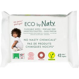 Eco by Naty Unscented Flushable Wipes - Pack of 42