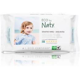 Eco by Naty Unscented Sensitive Wipes - Pack Of 56