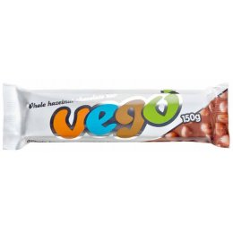Vego Whole Hazelnut Chocolate Bar - 150g