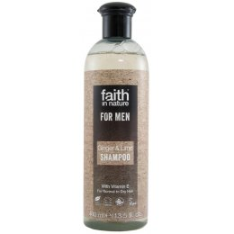 Faith In Nature Mens Ginger & Lime Shampoo - 400ml