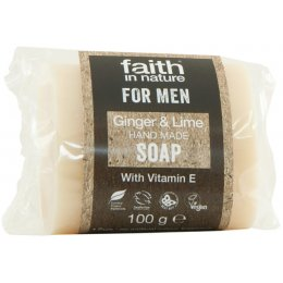 Faith In Nature Mens Ginger & Lime Bar Soap - 100g