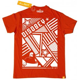 All Riot Disobey Political T-Shirt - Red