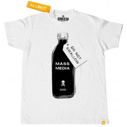 All Riot Mass Media Political T-Shirt