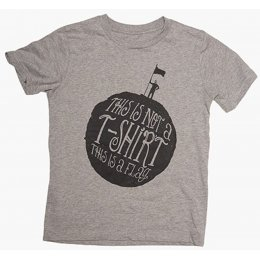 The Fableists This Is A Flag Organic Unisex T-Shirt - Grey