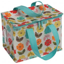 Recycled Lunch Bag Mid Century Poppy