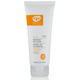 Green People Travel Size Sun Lotion SPF15 with Tan Accelerator 100ml