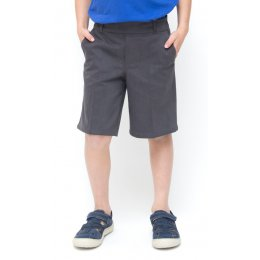 Boys Classic School Shorts - Grey - Junior