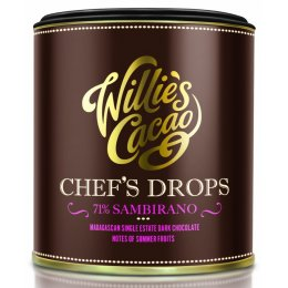 Willies Cacao Madagascan Chefs Drops Cooking Chocolate - 71 percent  Sambirano - 150g