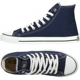 Ethletic Fairtrade Hi Top Trainers - Dark Blue