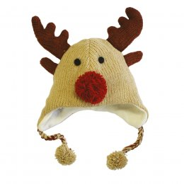 Kids Rudolf Reindeer Knitted Hat