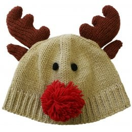 Knitted Rudolph Reindeer Hat