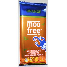 Moo Free Dairy Free Orange Chocolate Bar - 86g