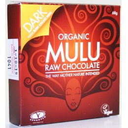 Mulu Dairy Free Dark with Cocoa Nibs Raw Chocolate - 68g