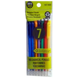 Recycled Plastic 0.7mm Mechanical Pencils - 7 Pack