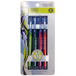 Recycled Fine Highlighters - 4 Pack - Assorted Neon Colours