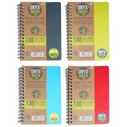 A6 Bamboo Paper Notebook - 4 x 6 - 65 Ruled Sheets - Assorted Colours