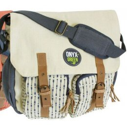 Ramie Leaf & Jute Messenger Bag - Beige