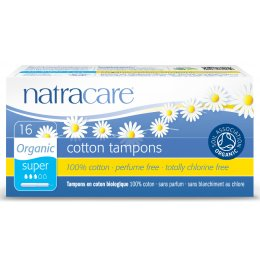 Natracare Organic Cotton Tampons with Applicator - Super - 16