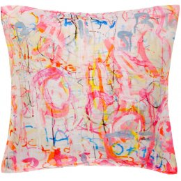 Arthouse Meath Charity Pink Graffiti Cushion