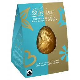 Divine Toffee & Sea Salt Milk Chocolate Egg