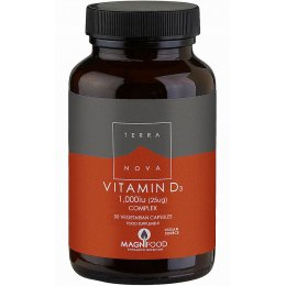 Terranova Vegan Vitamin D3 1000iu Complex Supplement - 50 Capsules