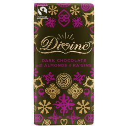 Divine Dark Chocolate with Almonds & Raisins sharing bar