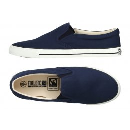 Ethletic Fairtrade Deck Shoes - Ocean Blue