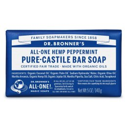Dr Bronner Organic Peppermint Soap Bar - 140g