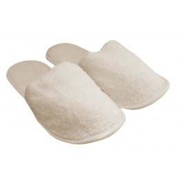 Natural Toweling Slippers