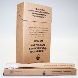 Environmental Bamboo Toothbrush - Medium
