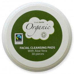 Simply Gentle Organic Cotton Facial Pads - Pack of 30