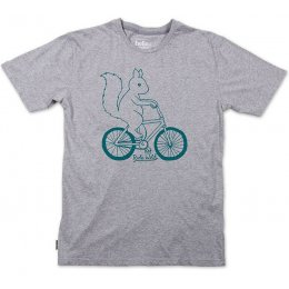 Silverstick Mens Ride Wild Organic Cotton T-Shirt - Grey Marl