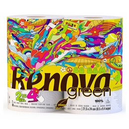 Renova Green Kitchen Roll XXl - 100 percent  Recycled - 2 Pack