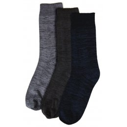 Mens Plain Marl Bamboo Socks - 3 Pack - Size 6-11