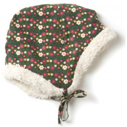 Woodland Flowers Sherpa Cap