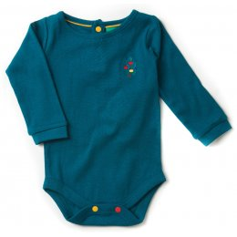 Deep Blue Pointelle Baby Body